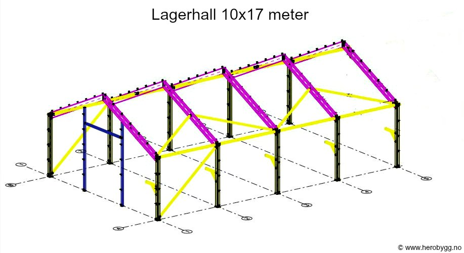 Lagerhall 10x17 meter